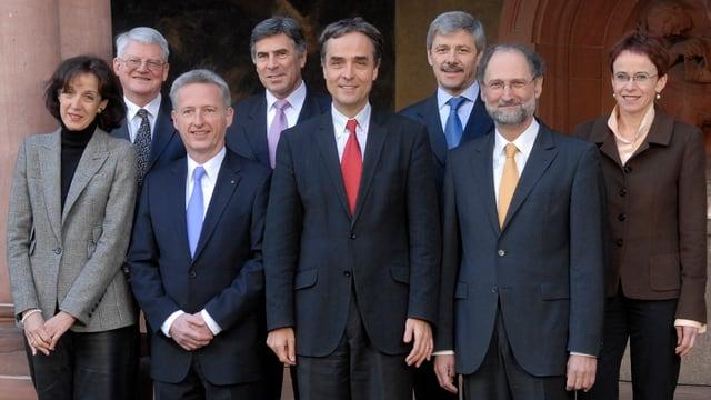 Gruppenfoto mit Eva Herzog als einziger noch amtierenden Regierungsrätin.
