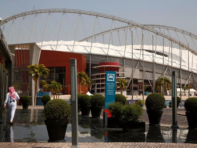 Aussenansicht des Khalifa International Stadions.