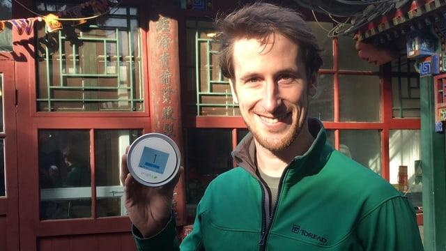 Liam Bates und das «Laser Egg»: Wertvolle neue Erkenntnisse dank Wifi-Verbindung zur Data Cloud.