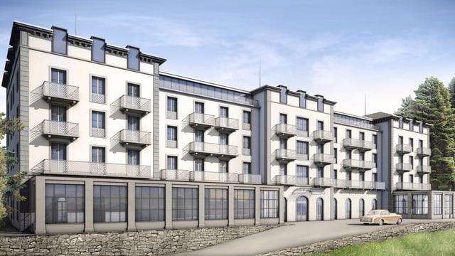 Visualisierung der Grand Residence Suiten auf dem Bürgenstock