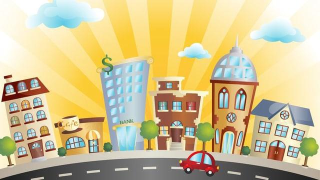 Bild von einer Stadt