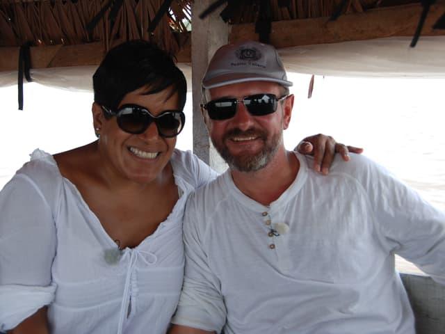 Corinne und Adrian Studer im Amazonas Gebiet .