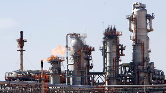 Eine Gasverarbeitungsfabrik von Sonatrach bei Krechba.