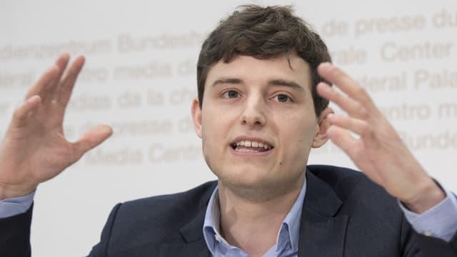 Benjamin Fischer, Präsident der Jungen SVP, will das neue Geldspielgesetz verhindern.