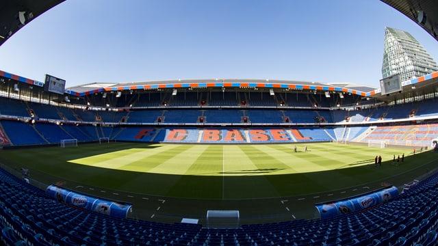 Blick ins Stadion des FC Basel.