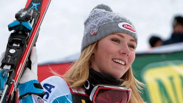 Mikaela Shiffrin aveva gudagnà l'emprim slalom da la stagiun cun passa 3 secundas avantatg sin la segunda.