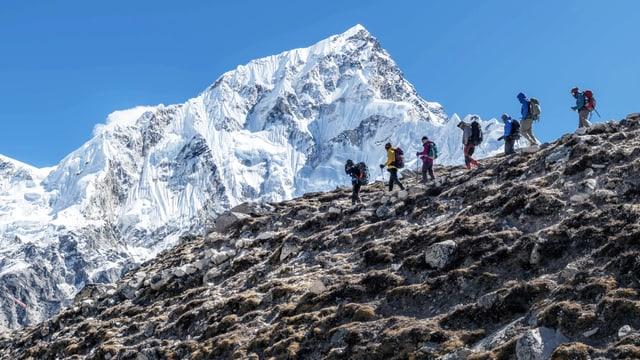 Wanderer am Himalaya