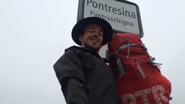 Gian-Marco Maissen è partì a las 07:00 da Puntraschigna.