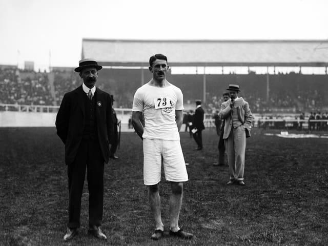 Der Brite Wyndham Halswelle am 25. Juli 1908.