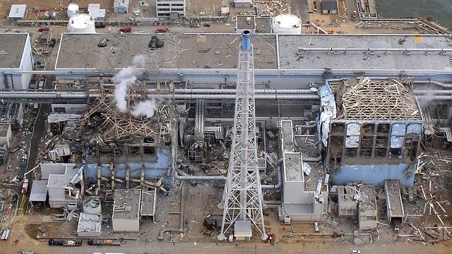 Das zerstörte Atomkraftwerk Fukushima Daiichi