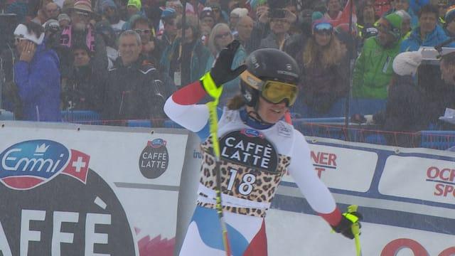 Fabienne Suter wird in St. Moritz Zweite.