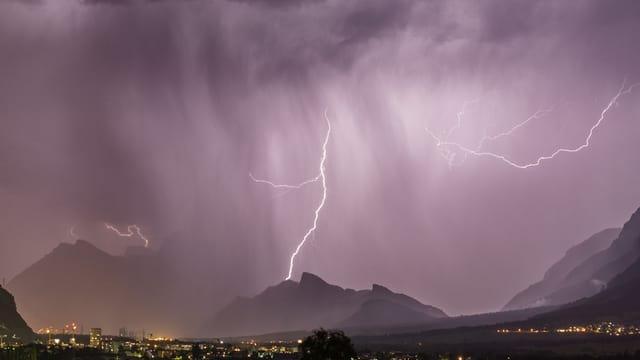 Gewitter über der Schweiz.