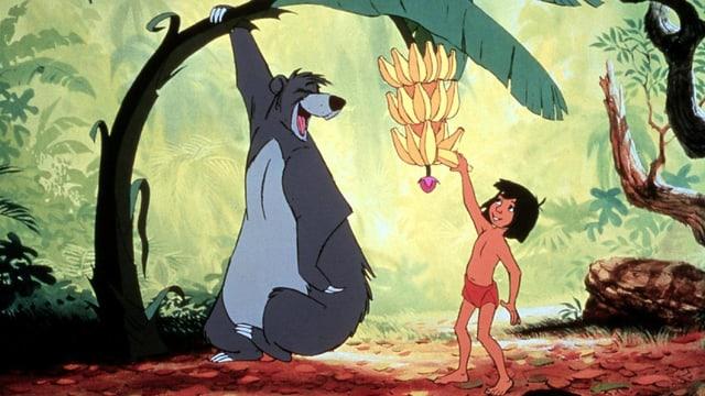 Ein Bär und ein Junge