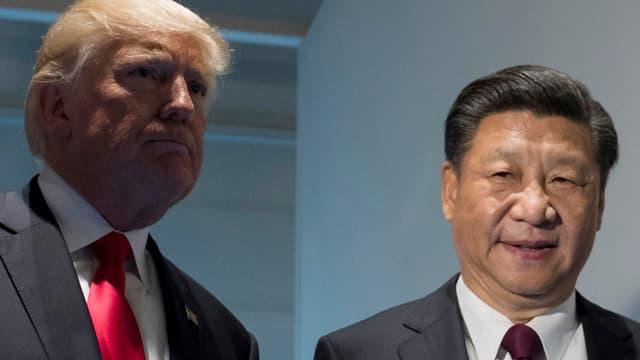 Trump mit Xi Jinping.
