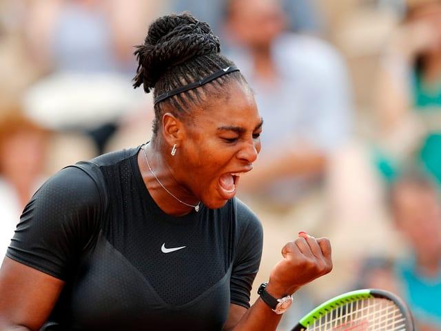 Serena Williams ballt die Faust.