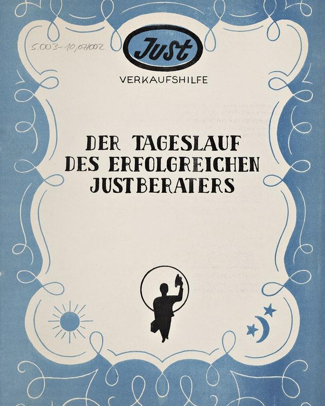 Titelbild der «Just»-Verkaufshilfe von 1950.