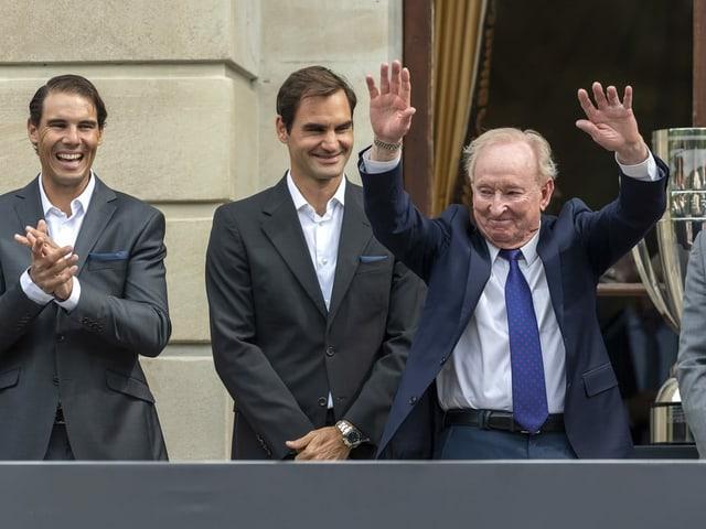 Namensgeber Rod Laver, Roger Federer und Rafael Nadal.