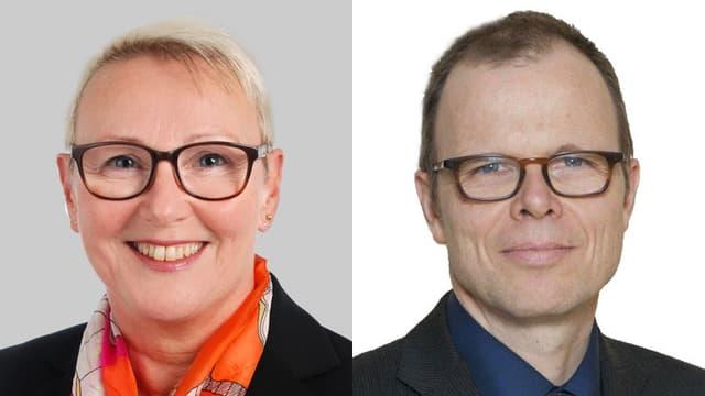 Porträt der Experten: Dr. med. Birgit Kräuchi und Prof. Dr. med. Urs Hepp.