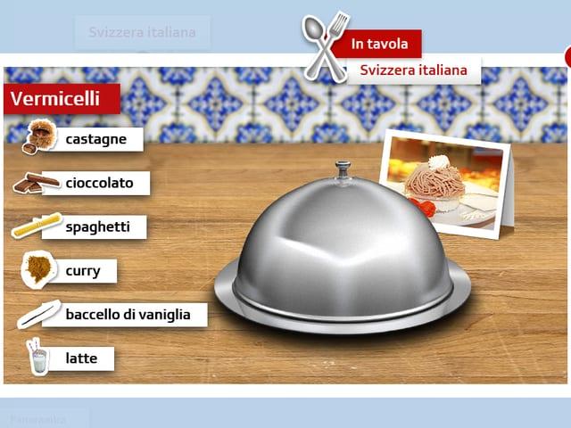 Ein Screenshot des Webgames «4 Sprachen zum Dessert».