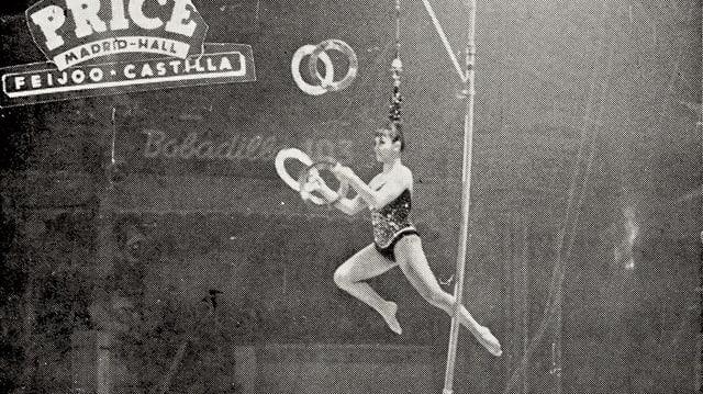 Auch in Madrid feierte die Haar-Zirkus-Artistin aus Rumänien grosse Erfolge.