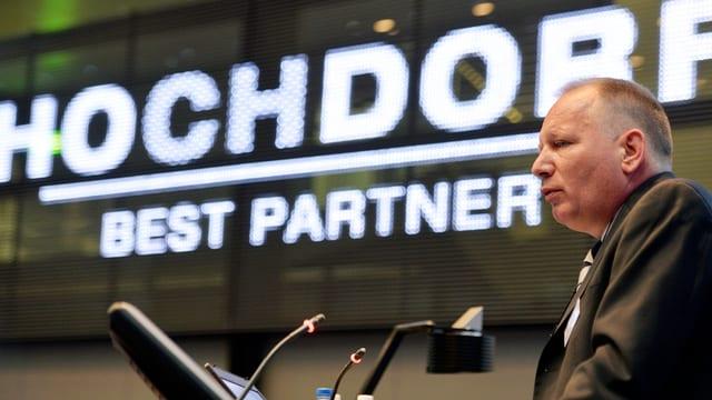 Porträt von Hochdorf-CEO Thomas Eisenring