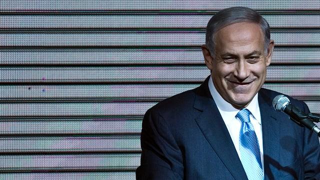 Proträt von Benjamin Netanjahu.
