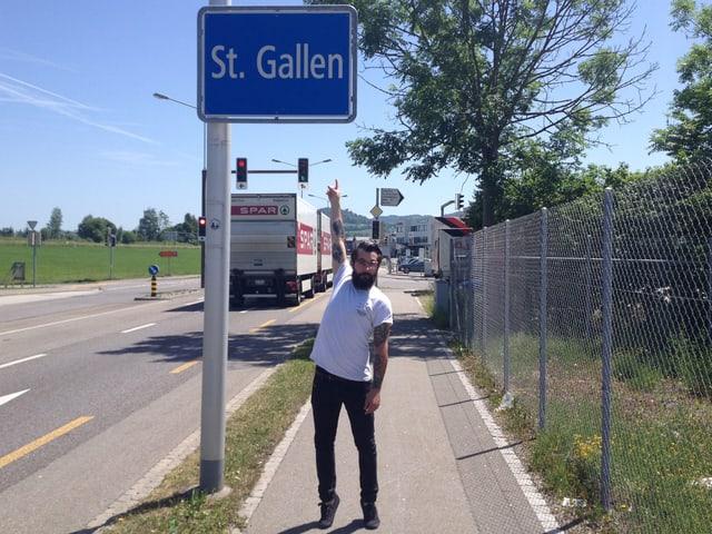 Zuhause in der Ostschweiz. SRF 3 Moderator Andi Rohrer ist in St. Gallen aufgewachsen.