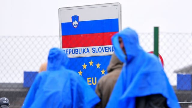 Migranten an der Grenze zu Slowenien.