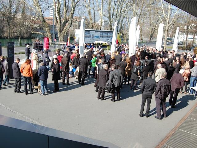 Der neue «Gräfin Elisabeth von Kyburg-Platz» beim Parkhaus Grabengut