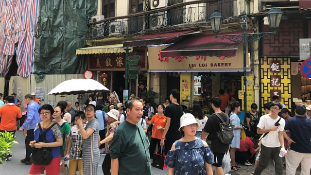 Touristen in Macau