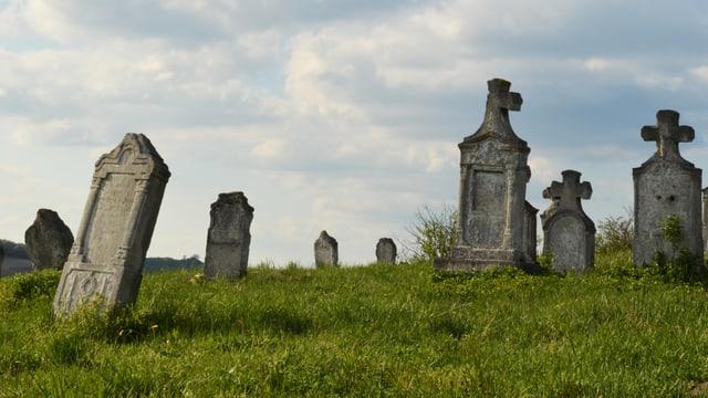 Eine Friedhofszene