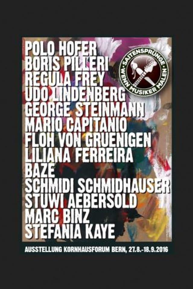 Plakat der Ausstellung «Saitensprünge – Wenn Musiker malen»