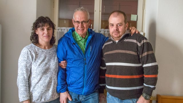 Fernanda e Paolo Rodrigues entamez Michel Simmen.