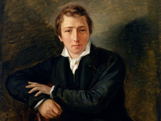 Heinrich Heine: Gemälde von Moritz Daniel Oppenheim.