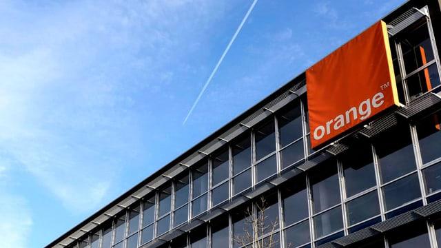 Ein Sitz von Orange Schweiz.