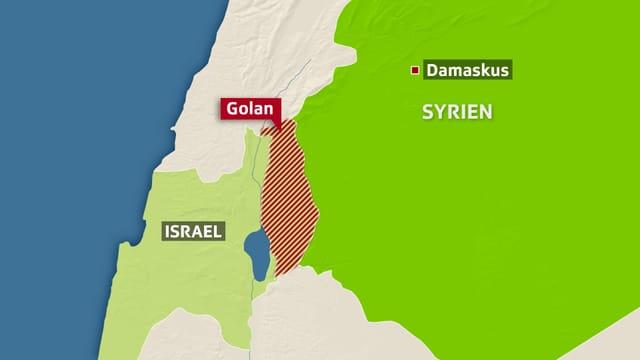 Die Golanhöhen.