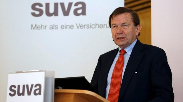 Franz Steinegger am Rednerpult