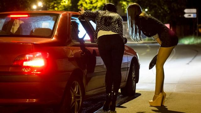 Sexarbeiterinnen auf dem Strassenstrich.
