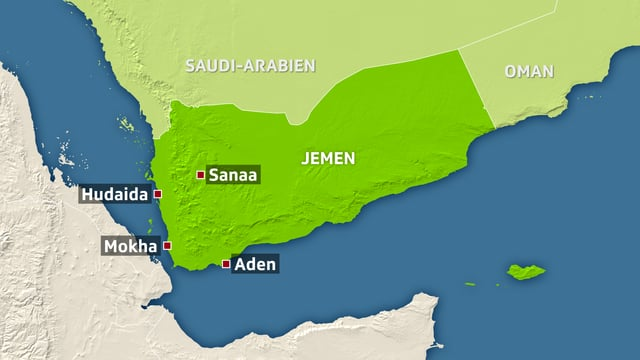 Karte Jemen.
