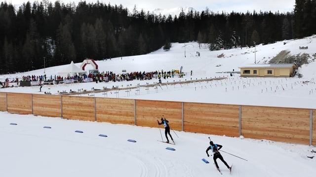 Die Biathlon-Anlage in Lenzerheide