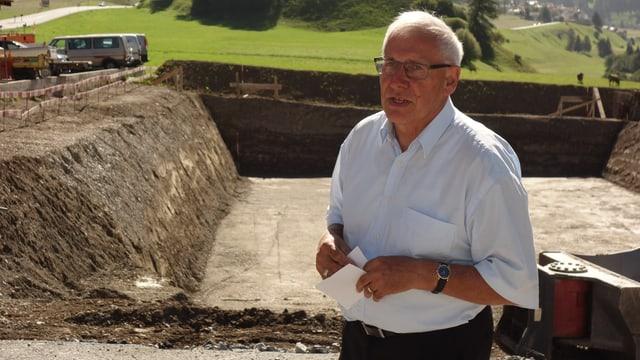 Clemens Poltera, il president dal cussegl d'administraziun dal Center da Sanadad SA.