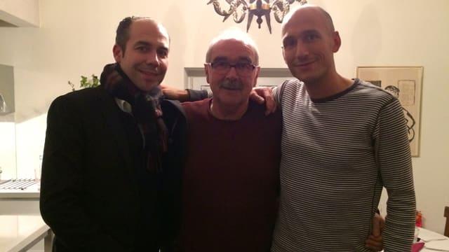 Lukie Wyniger mit Bruder und Vater.