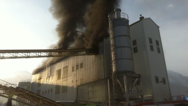 Kieswerk in Brand