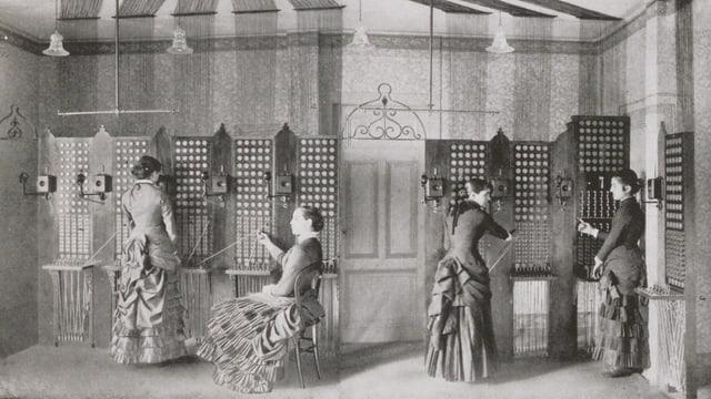 Telefonzentrale Centrale du Stand in Genf 1881