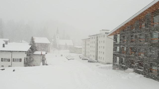 Schneetreiben auf der Lenzerheide.