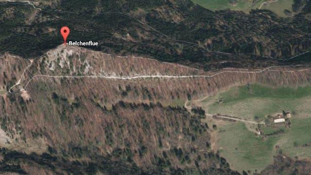 Luftaufnahme der Belchenfluh