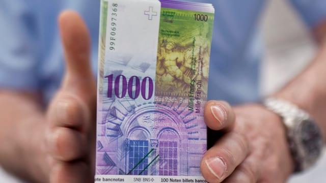 Ein Bündel 1000er Noten.