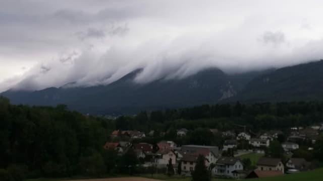 Wolkenwalze am Jura.