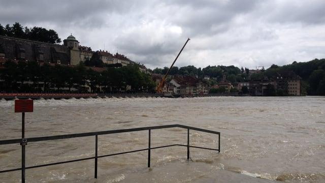 Am 13. Juli führte die Aare in Bern Hochwasser.