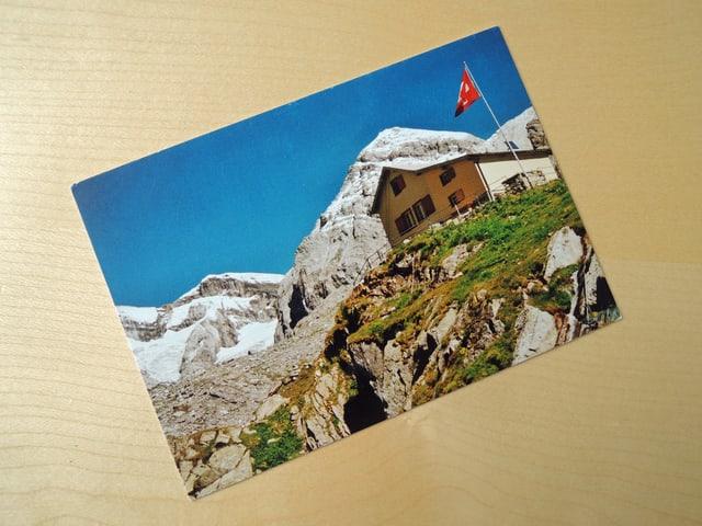 Sabine Dahinden bekommte eine Postkarte von der SAC-Hütte.